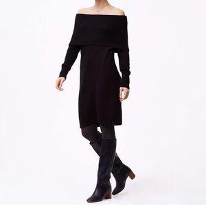 Loft off shoulder sweater dress
